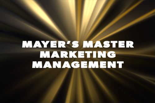 Mayer's Master Marketing Management